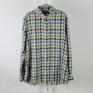 VINCE  plaid shirts green Sz XXL